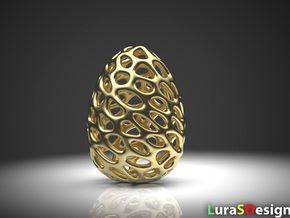 Dino Dragon Egg in Polished Bronzed Silver Steel