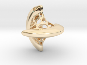 Sphericon pendant in 14k Gold Plated Brass