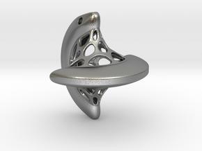 Sphericon pendant in Natural Silver