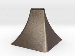 Vase Mod 004 in Polished Bronzed-Silver Steel
