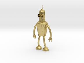 Futurama Bender Figure in Natural Brass: Small