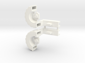 Ultra Magnus Arm Wheels (Deep Version) in White Processed Versatile Plastic
