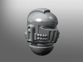 Iron Fist pattern Prime Helmet in Smooth Fine Detail Plastic: Small