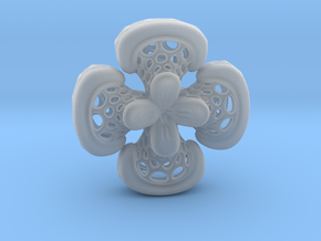 Sphericon Flower pendant in Smooth Fine Detail Plastic