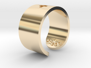Adjustable Plus Ring in 14k Gold Plated Brass