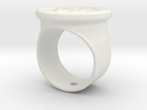 Celtic cross signet ring in White Natural Versatile Plastic