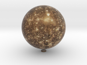 "Callisto /12"" Earth globe addon in Natural Full Color Sandstone"