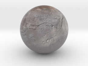 "Charon /12"" Earth globe addon in Natural Full Color Sandstone"