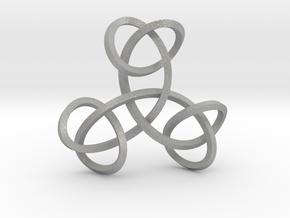 Triple Knot Pendant in Aluminum