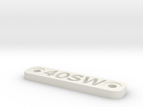 Caliber Marker - MLOK - 40SW in White Natural Versatile Plastic
