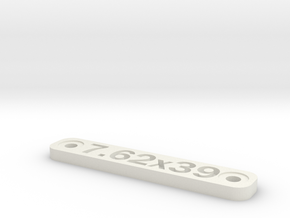 Caliber Marker - MLOK - 7.62x39 in White Natural Versatile Plastic