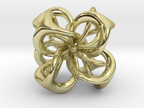 Flower in 4 Dimensions in 18k Gold Plated Brass