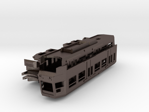 Manchester Metrolink T68A (Mk2) Tram N-Gauge 1:148 in Polished Bronzed Silver Steel