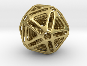 Nested Icosahedron in Natural Brass