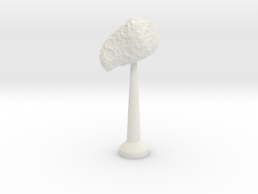 Single Stand 20mm Asteroid 1 in White Natural Versatile Plastic