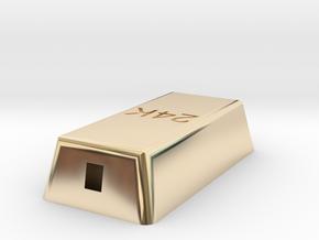 Gold ingot in 14k Gold Plated Brass