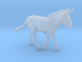 Mule w/Harness in Smooth Fine Detail Plastic: 1:48 - O