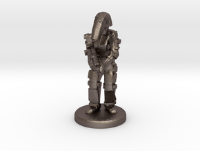 Battle Droid 20mm tall in Polished Bronzed-Silver Steel