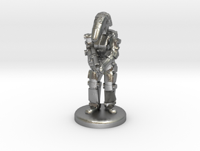 Battle Droid 20mm tall in Natural Silver