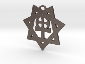 Septagram of the Liberal Catholic Union in Polished Bronzed-Silver Steel