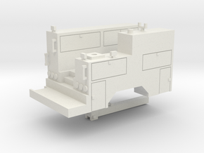 Maintenance Truck With Crane 1-64 Scale (Positiona in White Natural Versatile Plastic