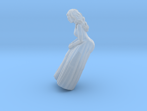 Woman Sitting: Long Dress in Smoothest Fine Detail Plastic: 1:64 - S