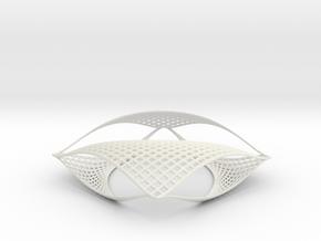 Parabolic Sculpture in White Natural Versatile Plastic