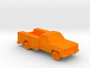 Utility Truck 1970's (S) in Orange Processed Versatile Plastic: 1:64 - S