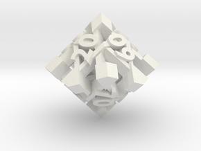 Intangle Die10 Decader in White Natural Versatile Plastic