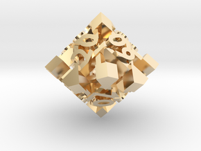 Intangle d10 Decader in 14k Gold Plated Brass