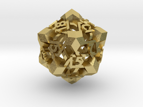 Intangle d20 in Natural Brass