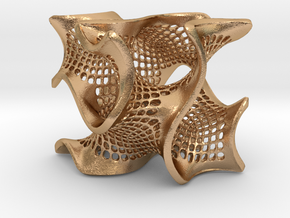 Perforated gyroid in Natural Bronze