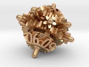 Clockwork Gears Dice in Natural Bronze: d00