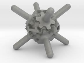 Clockwork Gears Dice in Gray PA12: d6