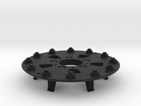 TRX-4 Hutchinson Wheel Cap 12 Nuts - One Piece in Black Natural Versatile Plastic