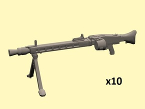 28mm MG-42 with drum x10 in Smoothest Fine Detail Plastic