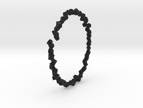 Bracelet of Cubes No.2 in Black Premium Versatile Plastic