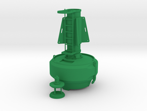 Full Oceans FLC2200 special mark buoy - 1:50 in Green Processed Versatile Plastic