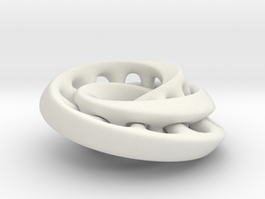 Nested mobius strip in White Natural Versatile Plastic