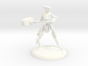 V-I-Tron : 40mm Base ; WarMachine Ready in White Processed Versatile Plastic