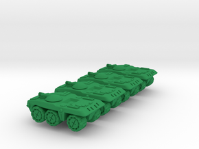 Berretta Medium Wheeled Armor - 3mm in Green Processed Versatile Plastic
