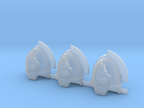 Doom Riders Gravus Shoulder Pads x3 in Smooth Fine Detail Plastic