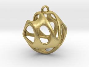 Hedra I in Natural Brass