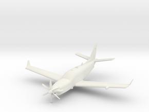 Socata TBM 900 in White Natural Versatile Plastic: 1:72