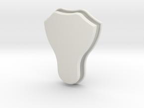 Italian Shield (Framed) in White Natural Versatile Plastic: Small
