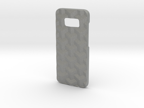 Samsung Galaxy S8 case_Cube in Gray Professional Plastic