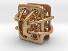 Borromean link nexus modified in Natural Bronze