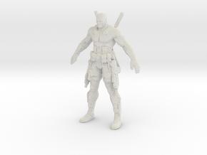 Deadpool voxelized in White Natural Versatile Plastic