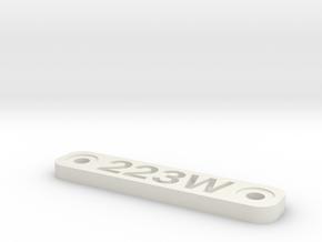 Caliber Marker - Mlok - 223Wylde in White Natural Versatile Plastic