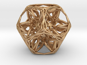 Organic Dodecahedron star nest in Natural Bronze